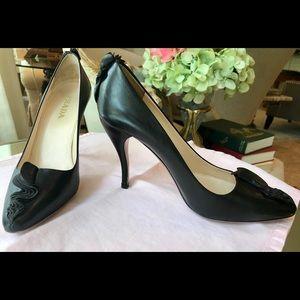PRADA Heels 37 Pumps 6 1/2 - 7 Black Classic Style